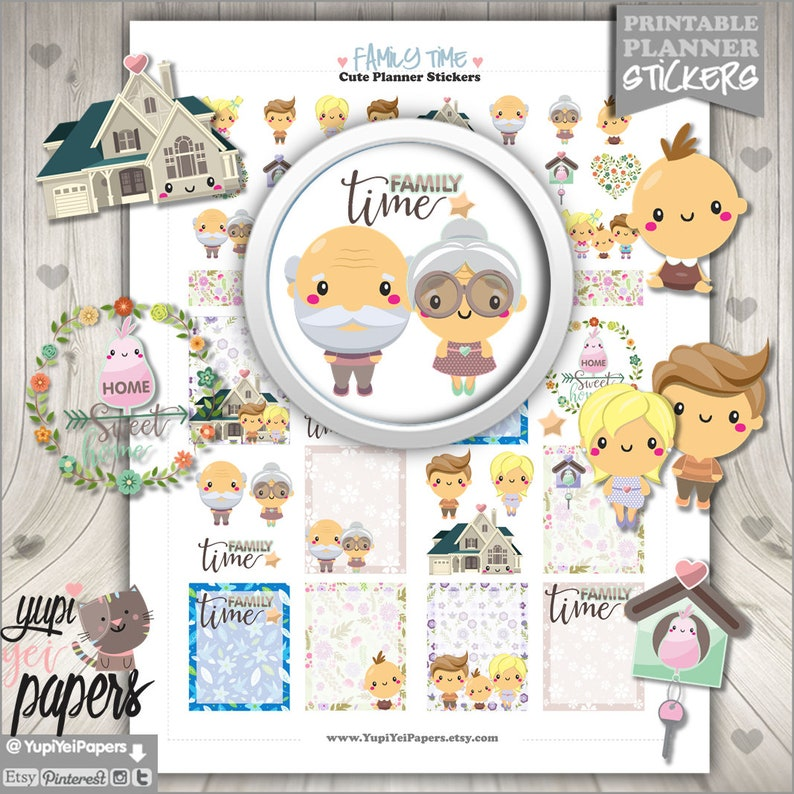 Family Stickers Planner Stickers Planner Accessories Family image 0