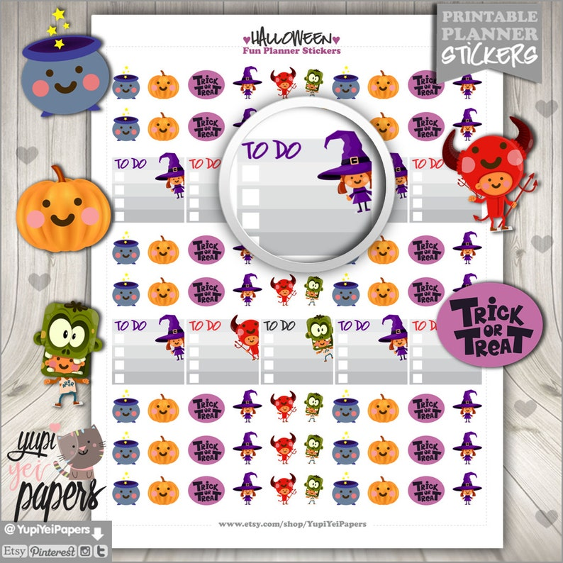 image about Halloween Stickers Printable titled Halloween Stickers, Planner Stickers, Printable Stickers, Lovely Stickers, Planner Equipment, Printable Planner Stickers, Electronic Stickers
