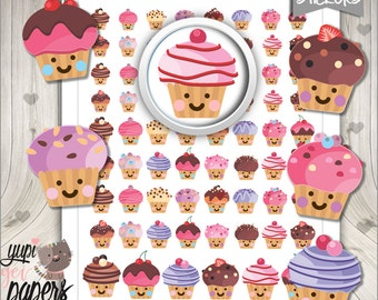 Cupcake Stickers, Planner Stickers, Cupcakes, Cake Stickers, Planner Accessories, Muffin Stickers, Cakes, Use in Erin Condren