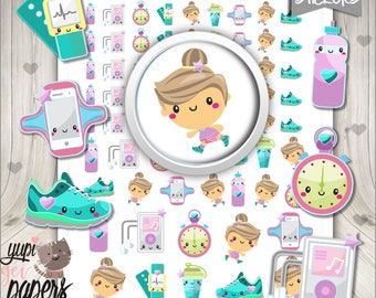 Run Stickers, Planner Stickers, Printable Planner Stickers, Runner Stickers, Planner Accessories, Fitness Stickers, Digital