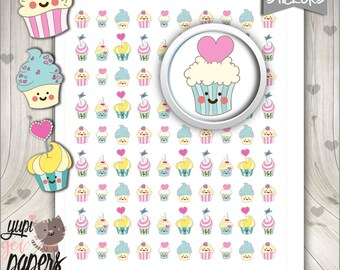 Cupcake Stickers, Planner Stickers, Cupcakes,  Cake Stickers, Planner Accessories, Cute Stickers, Cakes, Use in Erin Condren