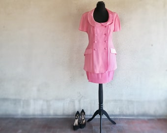 Moschino pink suit/ Moschino Cheap and Chic suit/ Moschino jacket and skirt