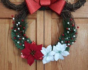 minnie mouse wreath minnie wreath minnie christmas disney christmas minnie mouse mickey and minnie any season minnie summer minnie - Mickey Christmas Decorations