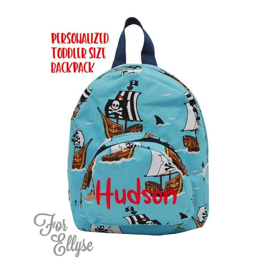 Pirate Backpack SMALL Personalized toddler bag  ca245d99cbec1