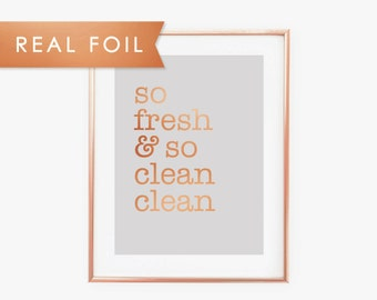 So Fresh and So Clean Clean - Copper & Gray Art Print Outkast