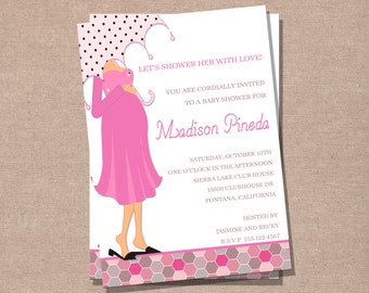 Baby Shower Invitation - Mommy-To-Be Invitation - Printable Baby Shower Invitation - DIY Invitation
