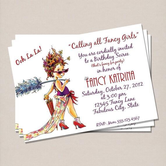 Fancy Nancy Inspiration Invitation Anniversaire Carte Etsy