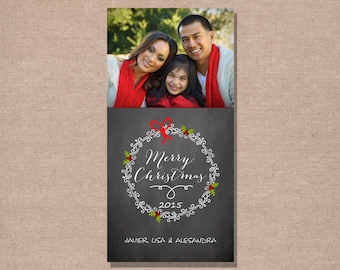 Christmas Photo Card - Christmas Card - Holiday Photo Card - Holiday Card - Printable Christmas Card - Digital Christmas Card