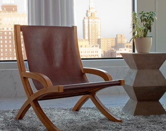 Merveilleux Leather Sling Chair