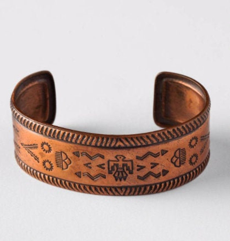 Vintage Bell Trading Post Copper Cuff