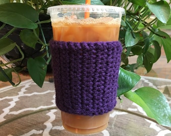 Crochet Coffee Sleeve - Crochet Coffee Cozy - Coffee Cozy - Coffee Gift - Coffee Cup Cozy - Reusable Coffee Sleeve