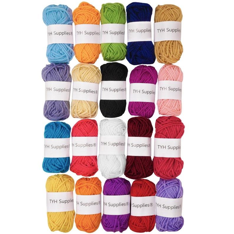 New Best Price TYH Supplies 20 Skeins Bonbons Yarn Assorted image 0