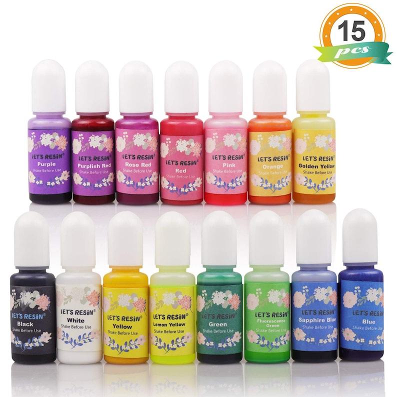 NEW Best Price Let's Resin 15 Colors Epoxy Pigment image 0