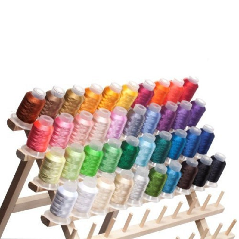 NEW Best Price 40 Spools Polyester Embroidery Machine Thread image 0