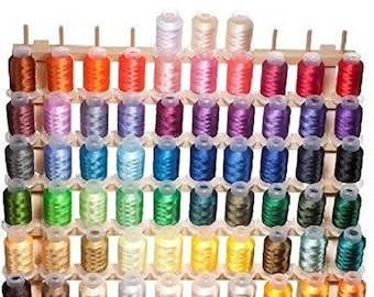 NEW Best Price! 63 Brother Colors Machine Embroidery Thread Set 40wt Cones ETKS63 - FAST SHIPPING!!!
