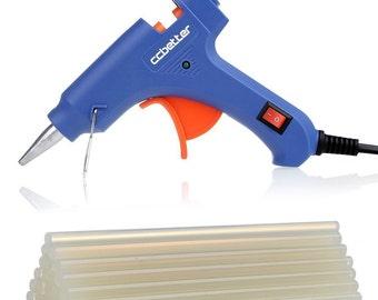 NEW Best Price! CCbetter® Mini Hot Glue Gun with 30 pcs Melt Glue Sticks High Temperature Melting Glue Gun Kit Flexible Trigger - Fast Ship!