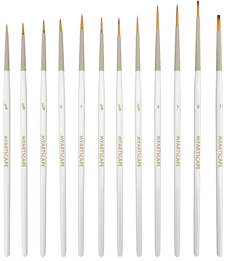 NEW Best Price Detail Paint Brush Set  12 Miniature Brushes image 0
