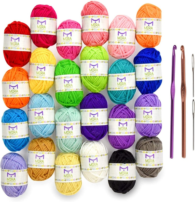 New Best Price 24 Acrylic Yarn Skeins  Total of 525 Yards image 0