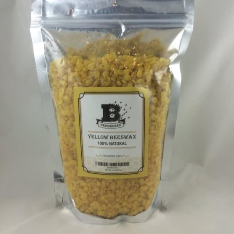 New Best Price BEESWAX PELLETS Yellow 1lb-Must Have For image 0