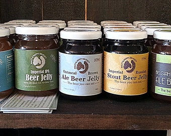 Set of 3 beer jellies (125 ml) - mix and match (select each beer jelly flavour separately, up to 3)