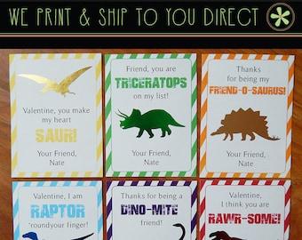Kids Valentines | Kids Dinosaur Valentines | Kids Valentines Cards | T-Rex, Stegosaurus, Triceratops, Raptor, Brachiosaurus, Pterodactyl |