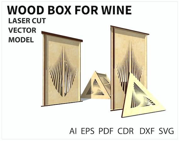 Laser Cut Wine Box Template Plywood