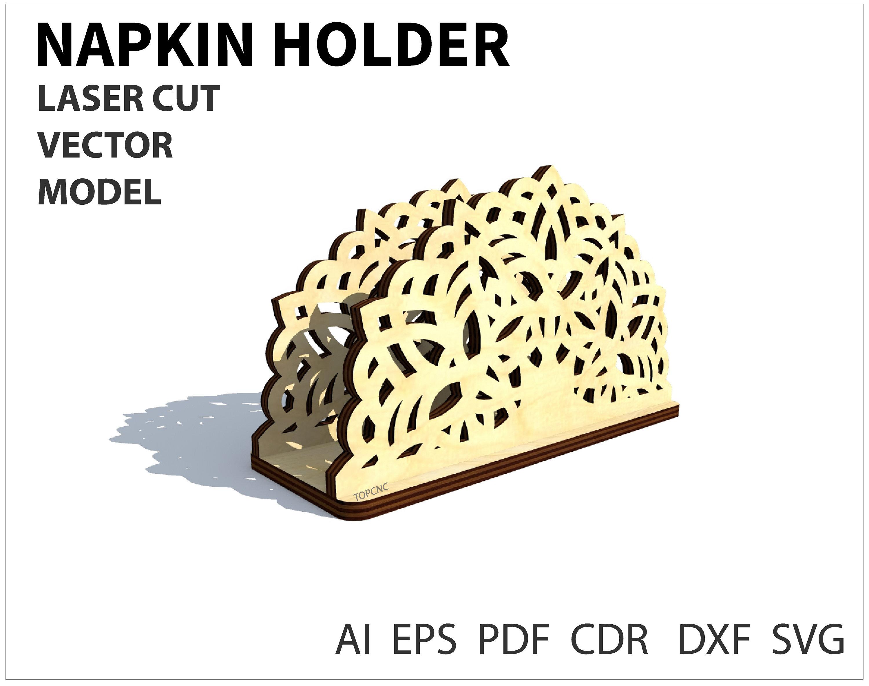 Napkin Holder Vector. Napkin holders drawing laser cut vector | Etsy