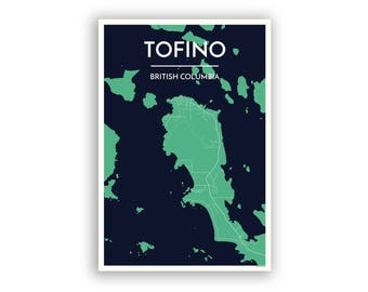 Tofino Canada Map.Tofino Map Etsy
