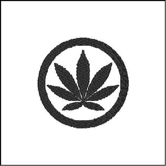 Weed Leaf Symbol A Digital File Download For Embroidery Etsy