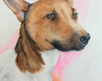 Custom watercolour painting of Josephine