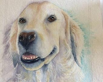 Custom watercolour painting of Hazel