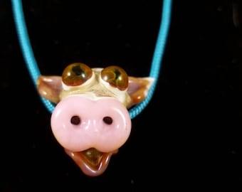 Borosilicate Lampwork Cow Focal Bead