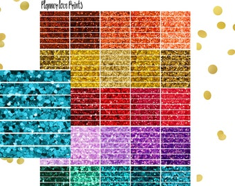 GLITTER PRINTABLE Planner Stickers | Instant Download | Pdf and Jpg Format