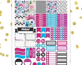 Dark Spring PRINTABLE Planner Stickers | Instant Download | Pdf and Jpg Format