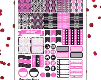 pink and purple  PRINTABLE Planner Stickers | Instant Download | Pdf and Jpg Format