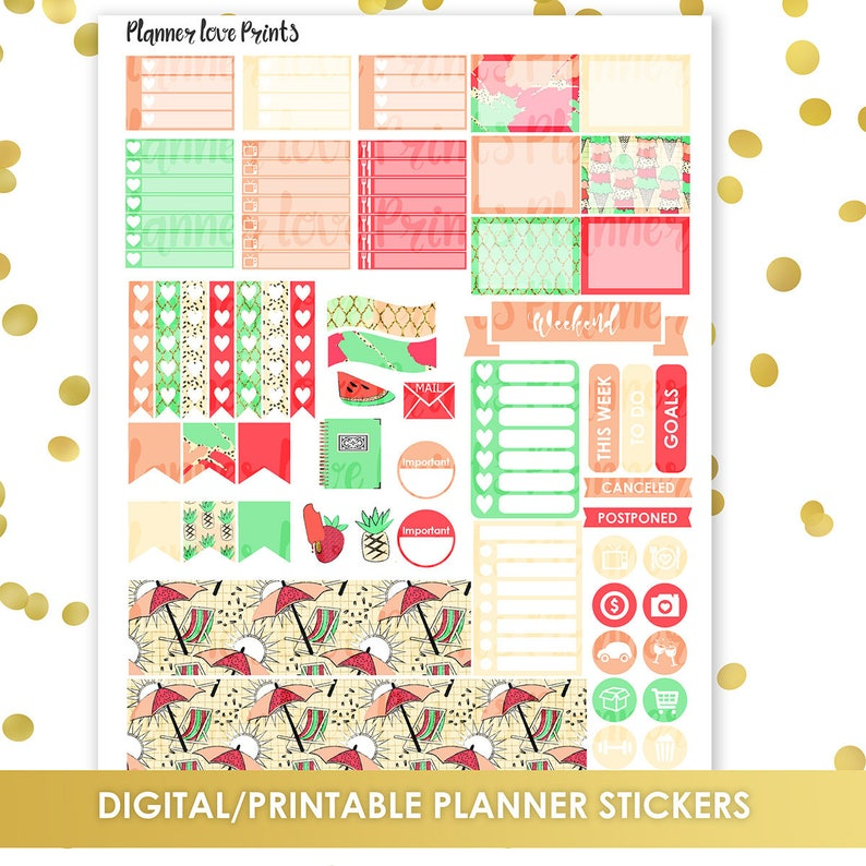 photo about Printable Paradise named 50%off PRINTABLE PARADISE Planner Stickers Instantaneous Obtain Pdf and Jpg Structure
