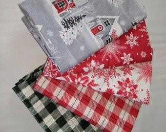 Christmas Fabric Fat Quarter Pack