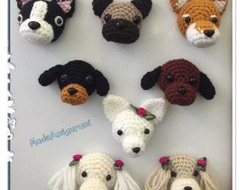 Handmade Crochet Fridge Magnet Dogs