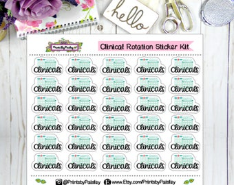 Clinical Rotation Sticker Kit