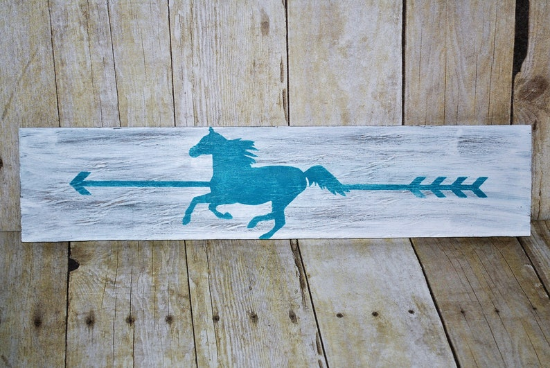 Wooden Horse Sign Equine Wall Decor Home