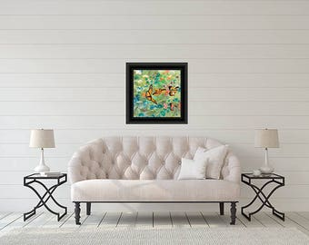 Floral print butterfly Wall art Decorative Contemporary  abstract Home decor Original affordable fine art  artworkforsale interiordesign