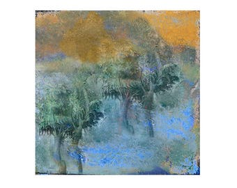 Landscape tree Print Decorative art Custom Home decor Abstract Wall art Contemporary Affordable Summer Landscape wit Trees