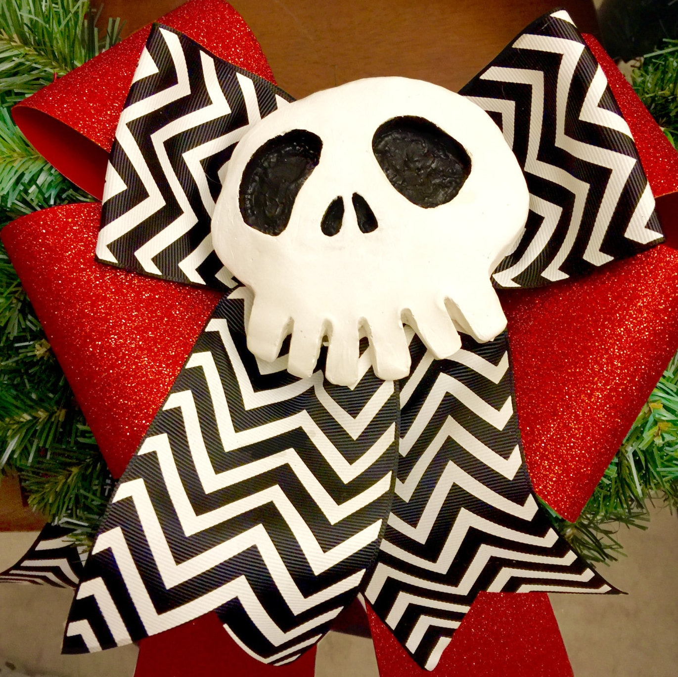 Jack Skellington Skull - Nightmare Before Christmas Decoration - Haunted Mansion - Unique and Hand Sculpted