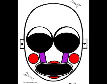 photo relating to Five Nights at Freddy's Printable Mask named Fnaf pdf Etsy