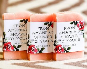 Bridal shower favors wedding soap favor Roses soap favors spring bridal shower personalized favors floral shower gift for guest mini soap