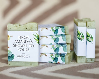 Bridal shower favors from my shower Greenery soap favors personalized soap baby shower soap favors mini soap for guests soap thank you soap
