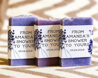 Lavender soap favor bridal shower favor baby shower soap favor wedding soap favor gift for guest thank you gift purple soap girl soap favor