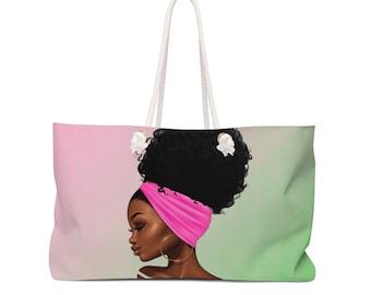 Pink And Green Weekender Bag