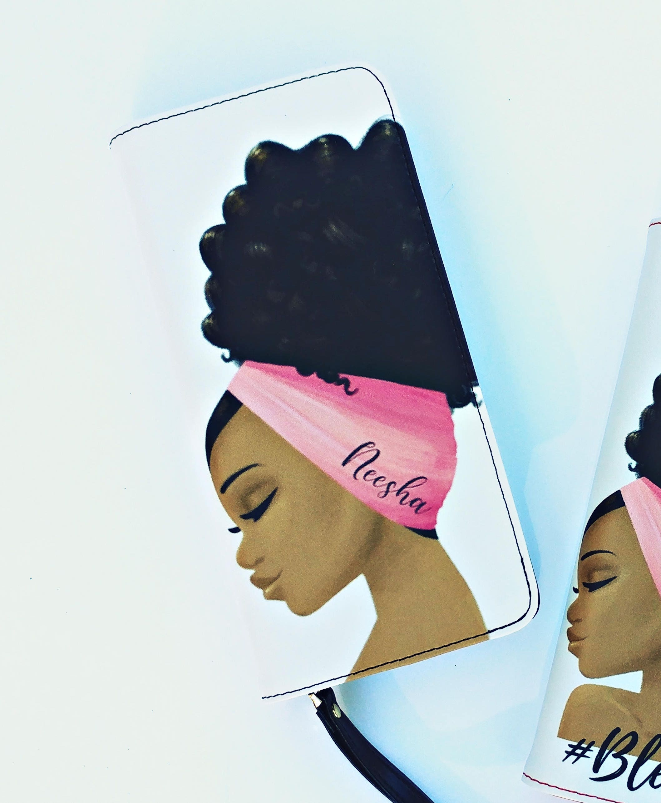 Double the Diva Clutch Wristlet Customized with Name Afro