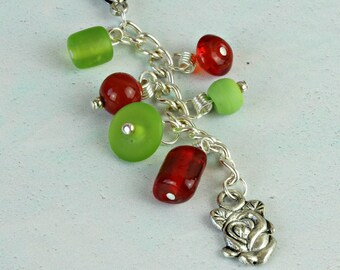 Charm Gift For Friend. Women's Bag Charm. Handbag Charm. Rose Charm for Mum. Handbag Key Chain Charms. Purse Charm. Zipper Pull. OOAK. C0017